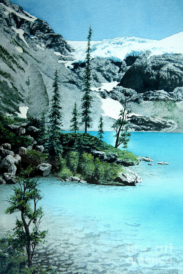 Lake Painting - Joffre lake by Frank Townsley