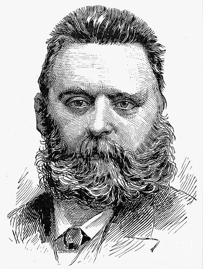 1889 Photograph - Johann Joseph Most by Granger