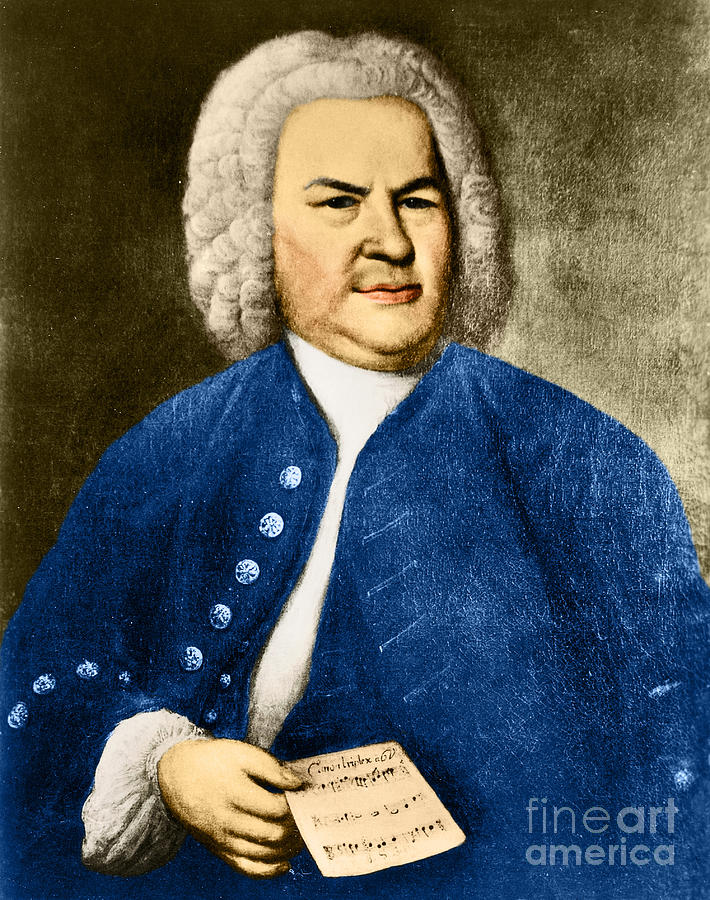 Artwork Photograph - Johann Sebastian Bach, German Baroque by Photo Researchers
