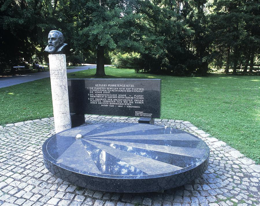 Johannes Kepler Photograph - Johannes Kepler Monument, Austria by Martin Bond