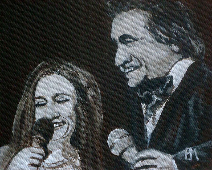 Johnny Cash Painting - John And June by Pete Maier