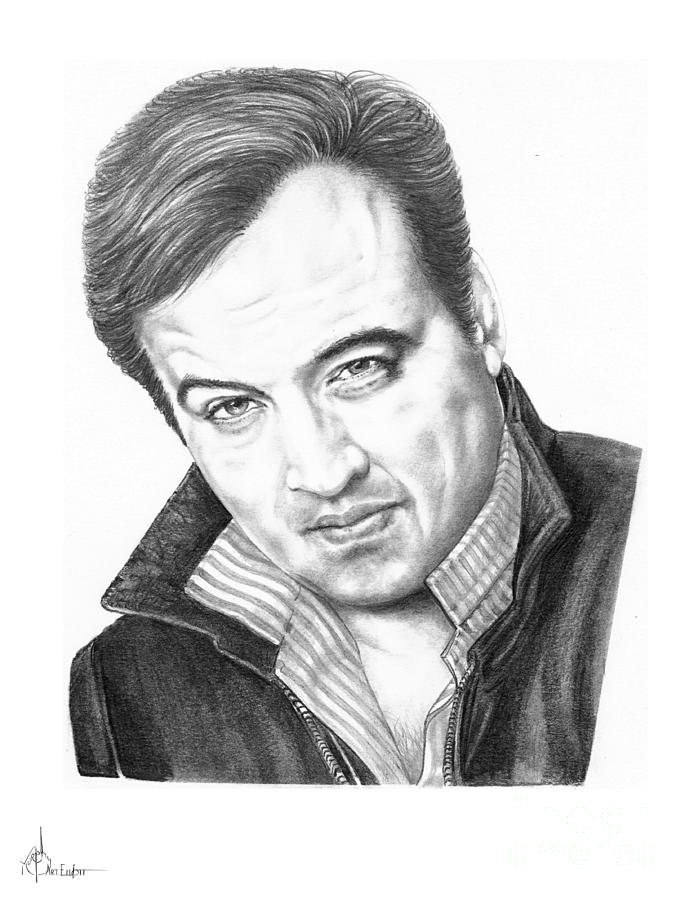 Pencil Drawing - John Belushi by Murphy Elliott