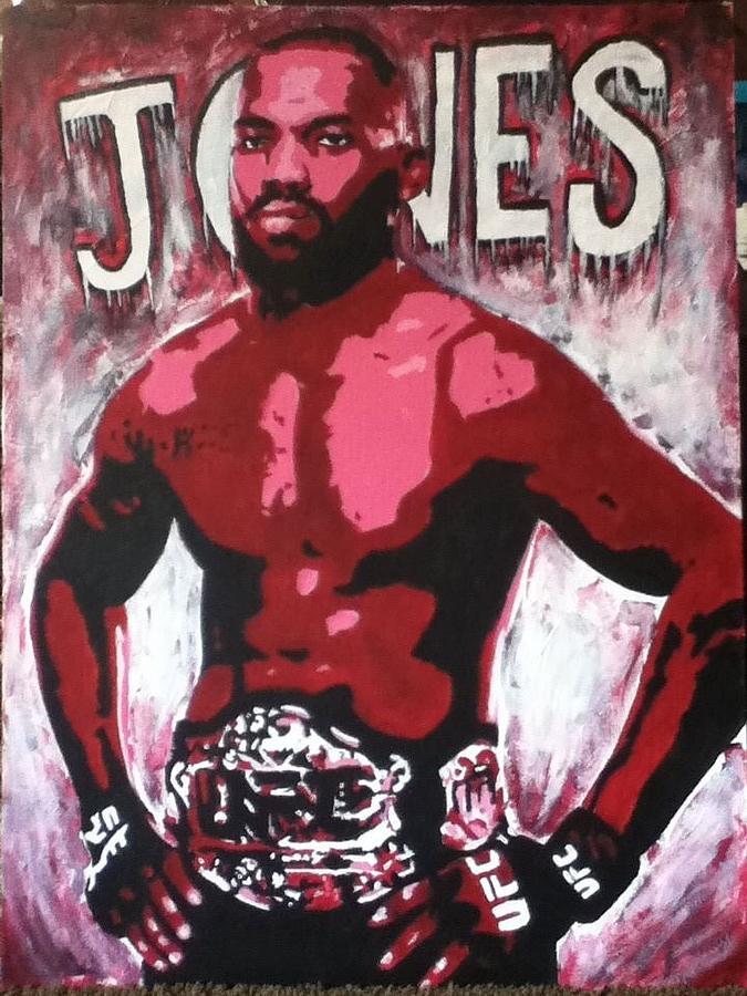 John Jones Painting - John Bones Jones by Stephen  Hatala