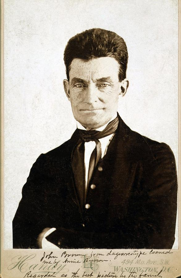 History Photograph - John Brown 1800-1859, Cabinet Card by Everett