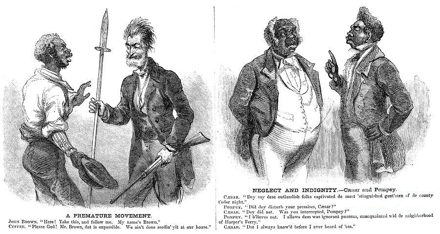 1859 Photograph - John Brown Cartoon, 1859 by Granger
