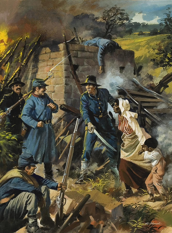 Abolitionist Painting - John Brown On 30 August 1856 Intercepting A Body Of Pro-slavery Men by Andrew Howart