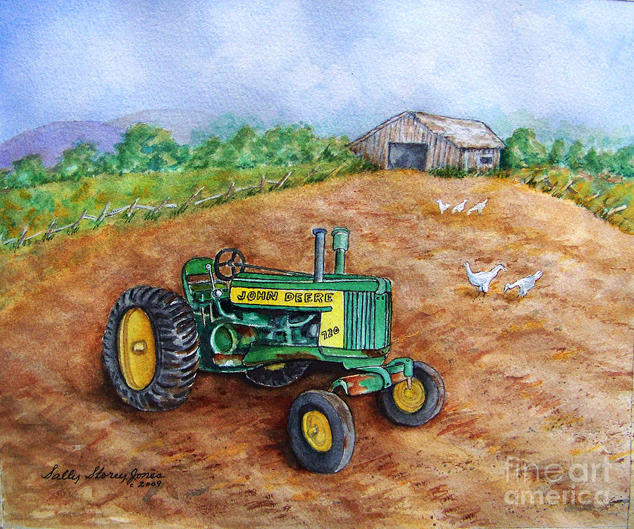 Jd Tractor Paint : John deere at home painting by sally storey jones