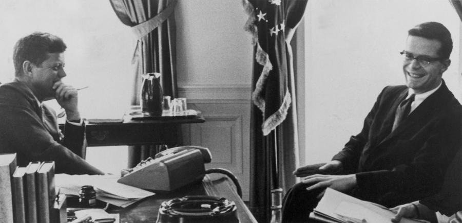 2008-2 Photograph - John F. Kennedy 1917-1963 And Theodore by Everett