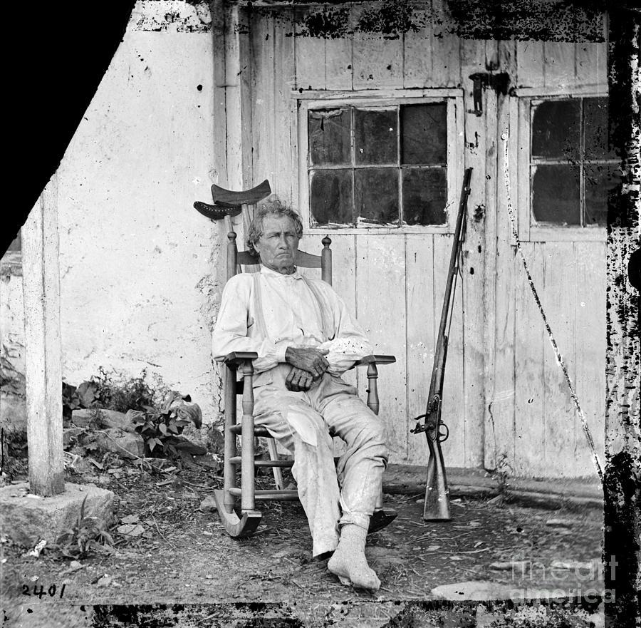 1863 Photograph - John L. Burns (1793-1872) by Granger
