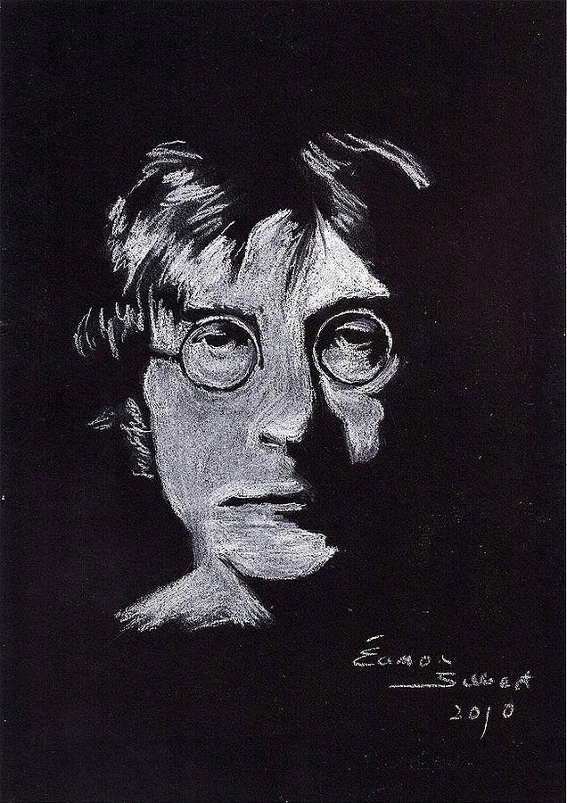 John Lennon Pastel - John Lennon by Eamon Gilbert