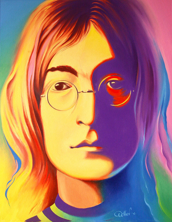 John Lennon Painting By Hans Doller