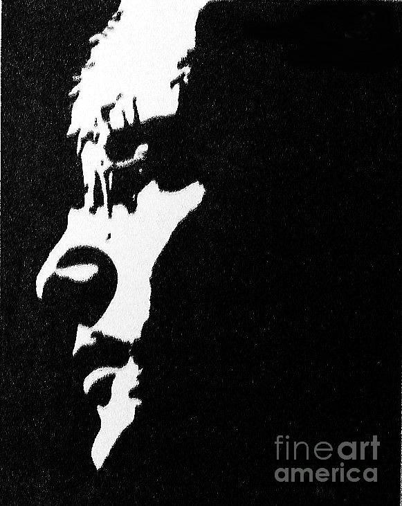 John Lennon Painting - John Lennon Hi Contrast by Kenneth Regan
