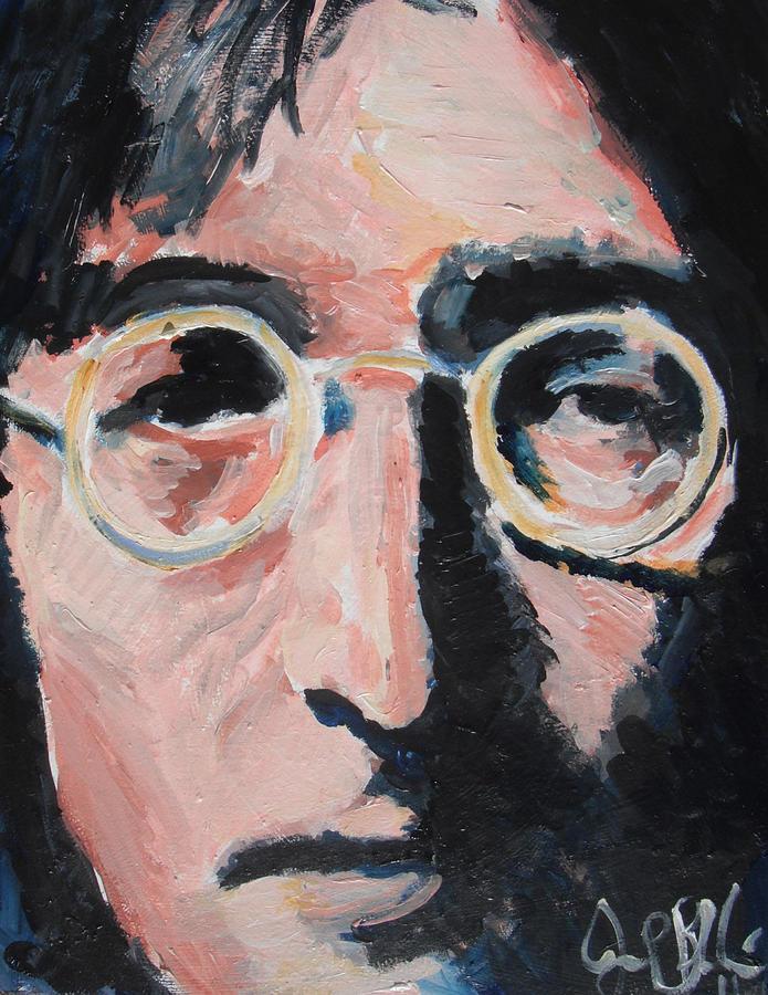 Beatles Painting - John Lennon  by Jon Baldwin  Art