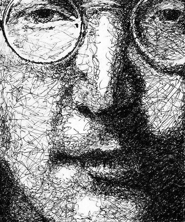 Beatles Drawing - John Lennon by Larry Joe