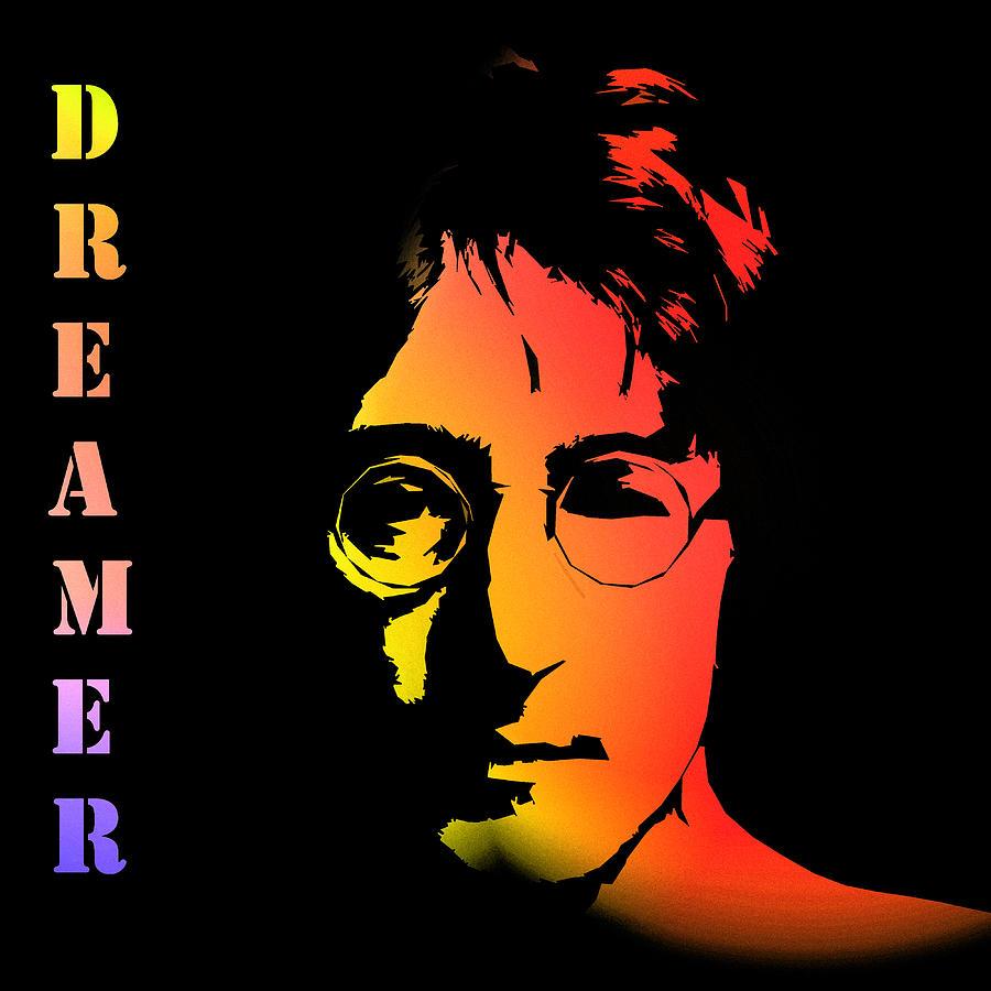 John Lennon Dreamer Not The Only One Beatle Beatles Song Songwriter Dream Digital Art - John Lennon by Steve K
