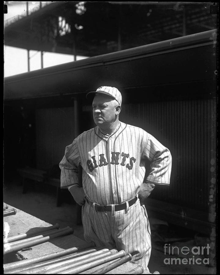 John Mcgraw Photograph - John Mcgraw -  New York Giants by David Bearden