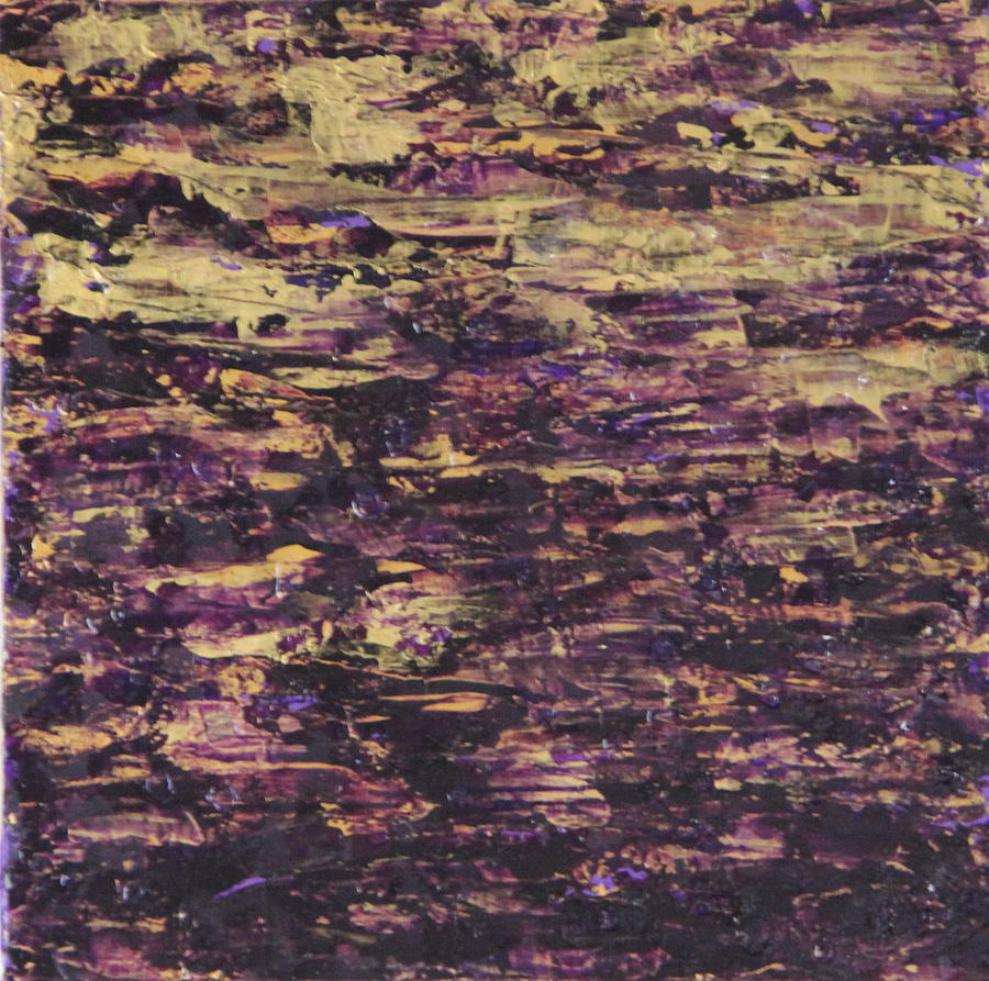 Purple Painting - John No.2 by Tracy Fetter