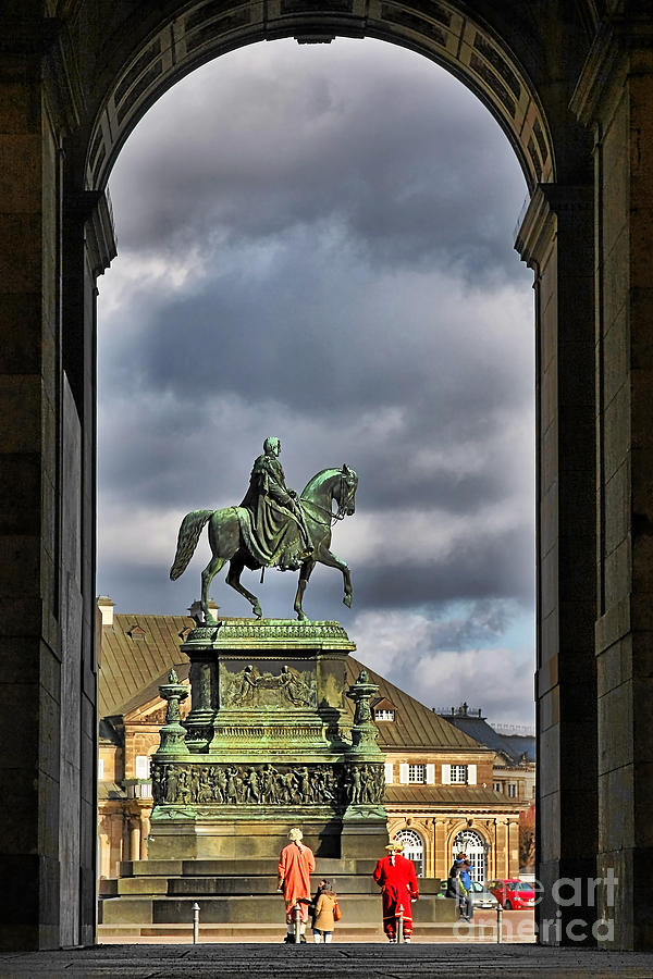John Of Saxony Monument Photograph - John Of Saxony Monument - Dresden Theatre Square by Christine Till