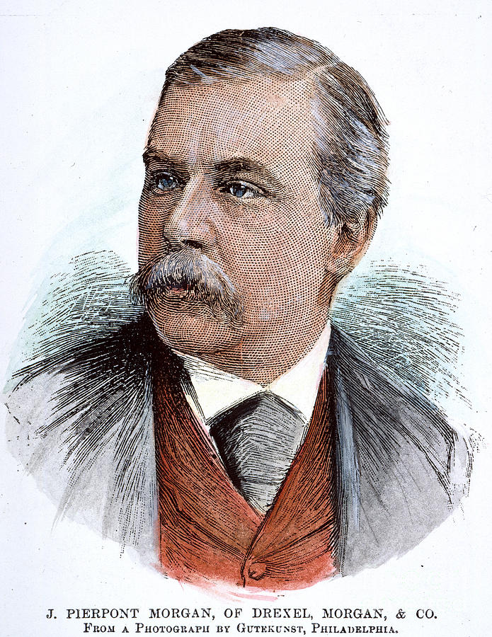 1890 Photograph - John Pierpont Morgan (1837-1913) by Granger