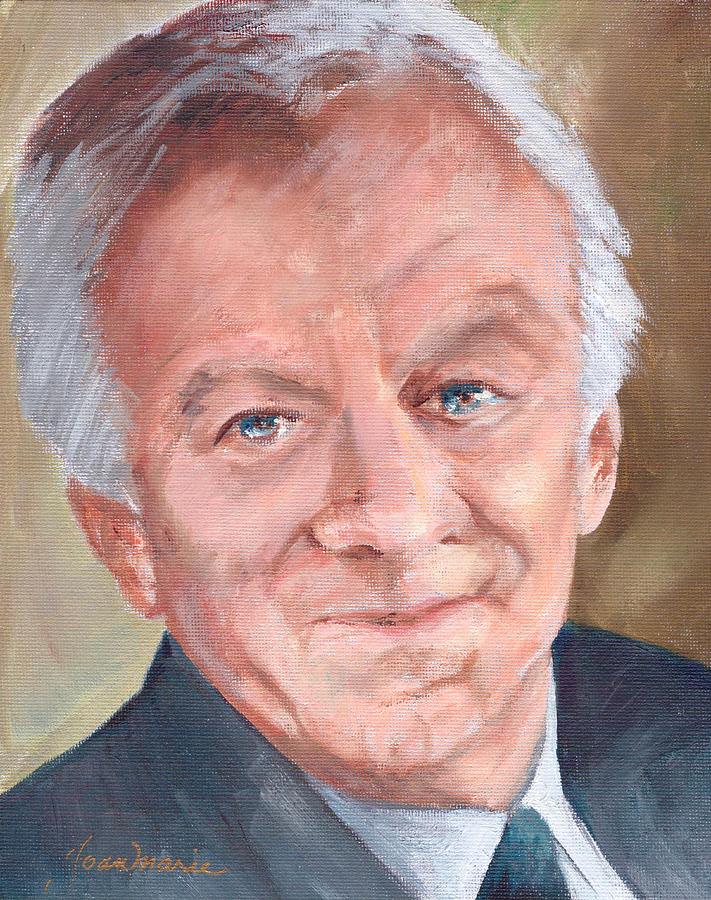 John Thaw Painting by Joan Whittinghill