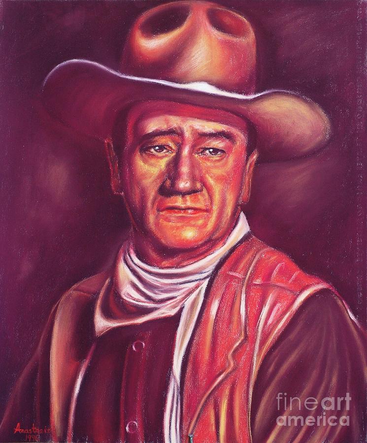 1979 Painting - John Wayne by Anastasis  Anastasi