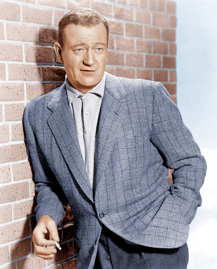 Blazer Photograph - John Wayne, Ca. 1955 by Everett