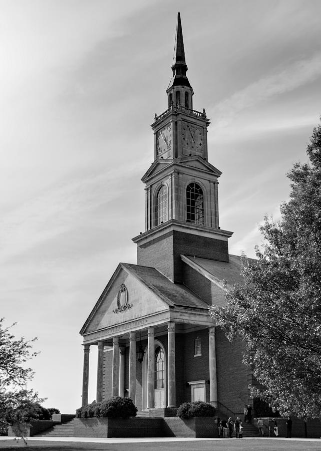 John Photograph - John Wesley Raley Chapel Black And White by Ricky Barnard