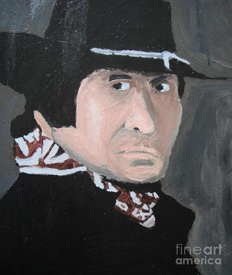 Johnny Cash Painting - Johnny Cash Man In Black by Jeannie Atwater Jordan Allen