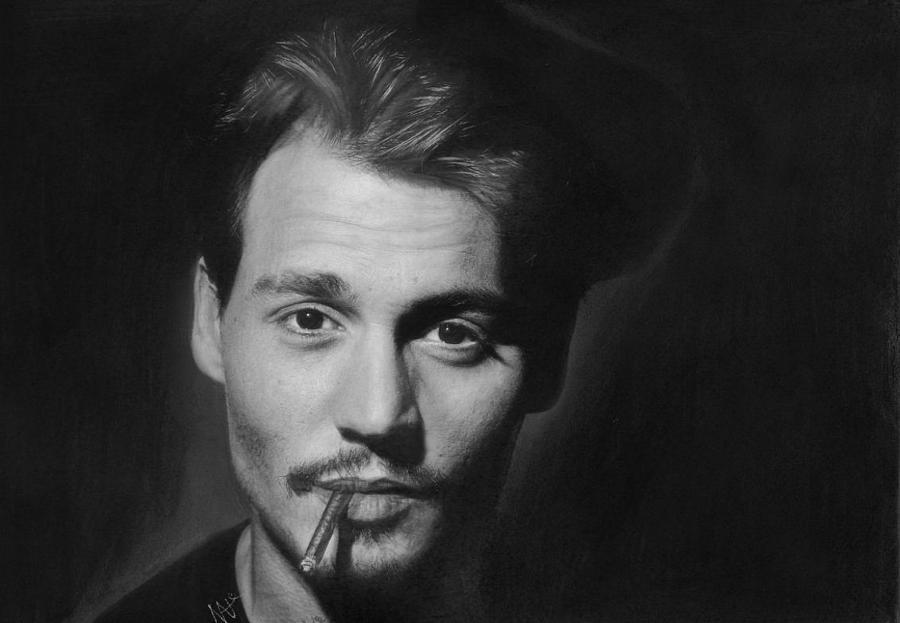 Johnny Depp Drawing - Johnny Depp by Nat Morley