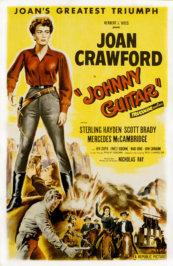 1954 Movies Photograph - Johnny Guitar, Joan Crawford, Sterling by Everett