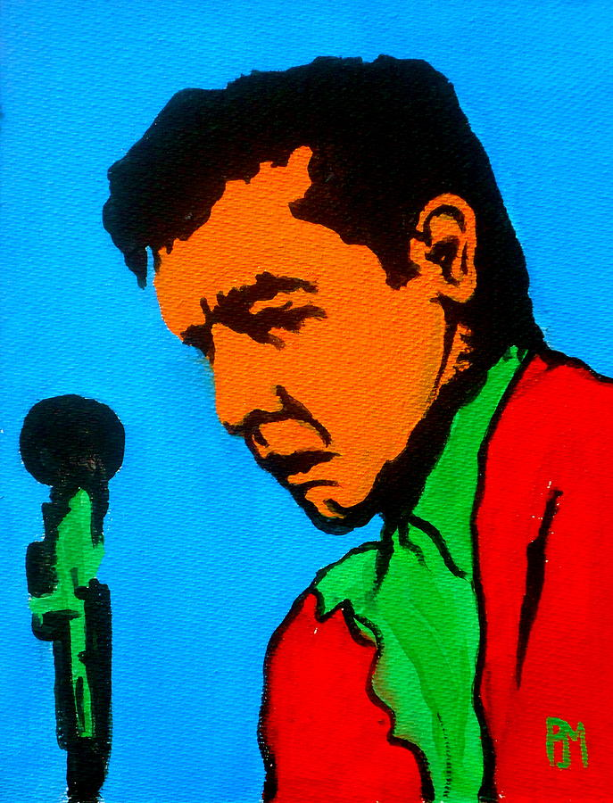 Johnny Cash Painting - Johnny Pop II by Pete Maier