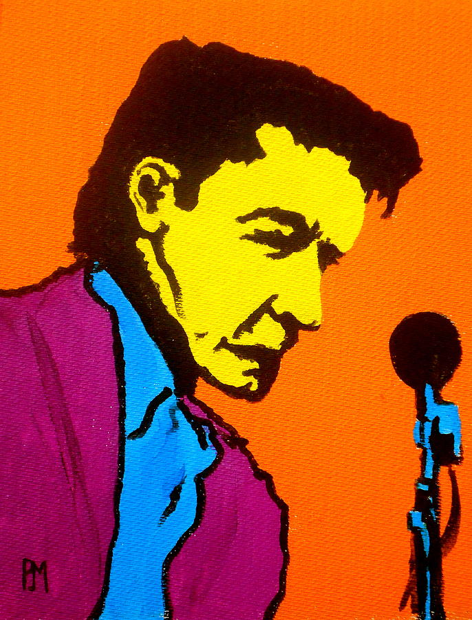 Johnny Cash Painting - Johnny Pop IIi by Pete Maier