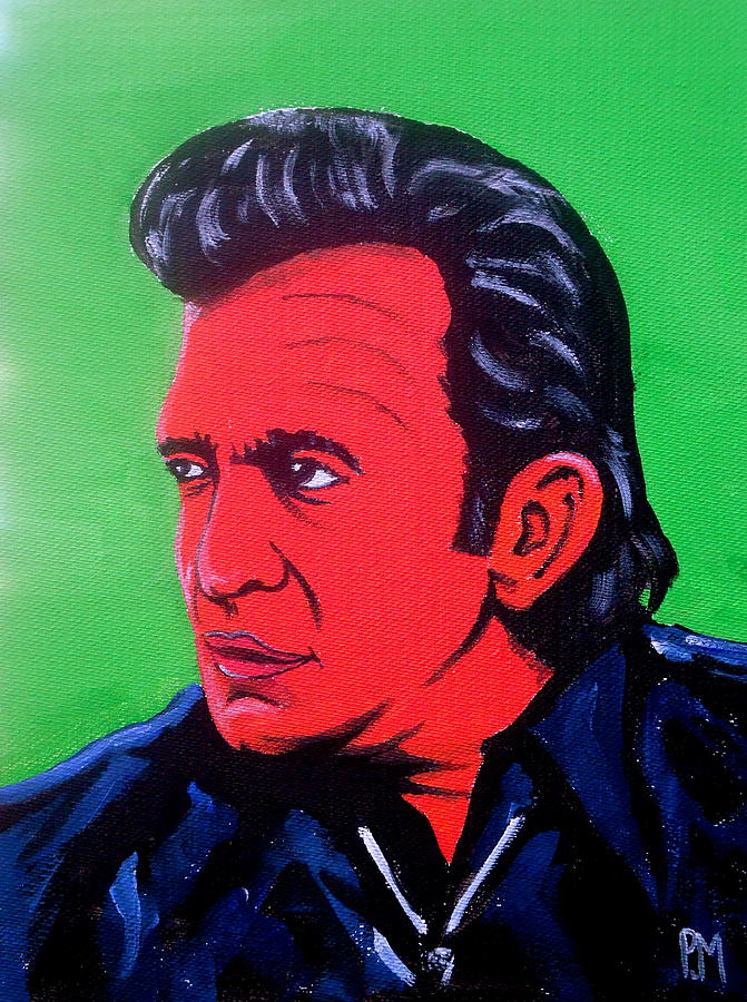 Johnny Cash Painting - Johnny Pop by Pete Maier