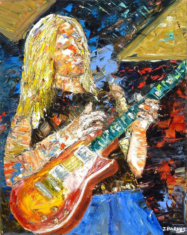Johnny Winter Painting - Johnny Winter by John Barney