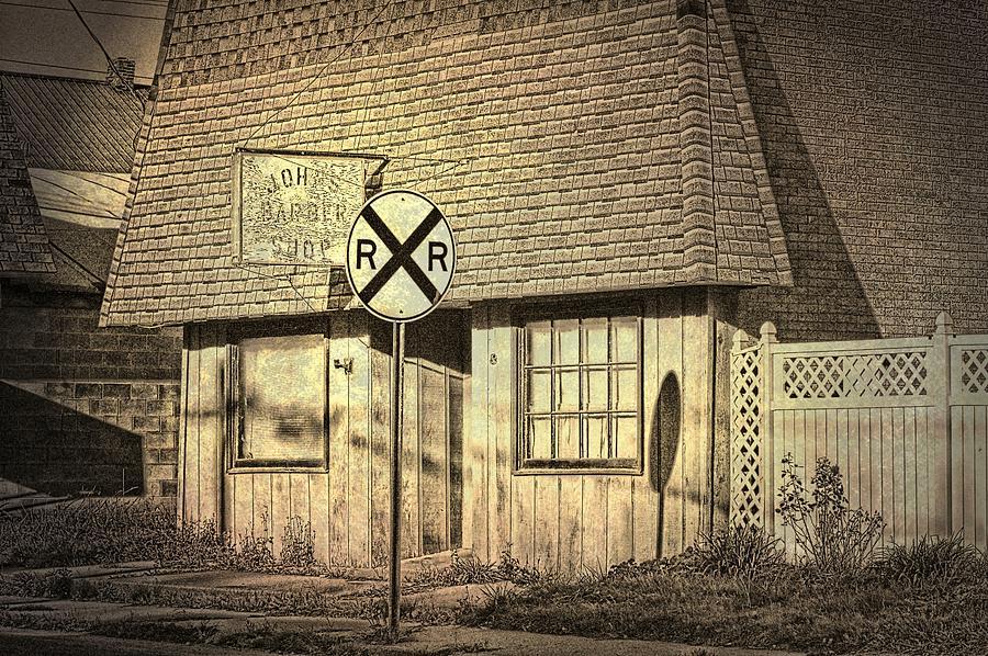 Barber Shop Photograph - Johns Barber Shop by Cheryl Cencich