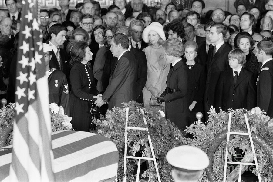 1973 Photograph - Johnson Funeral, 1973 by Granger