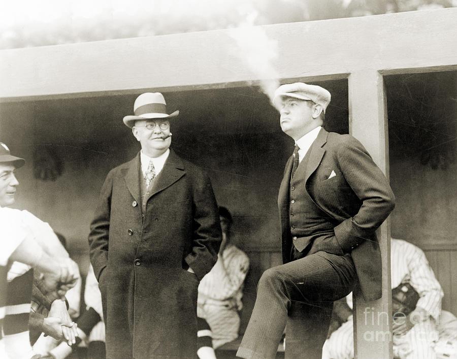 1922 Photograph - Johnson & Ruth, 1922 by Granger