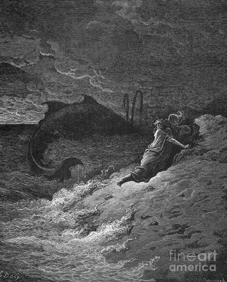 19th Century Photograph - Jonah & The Whale by Granger