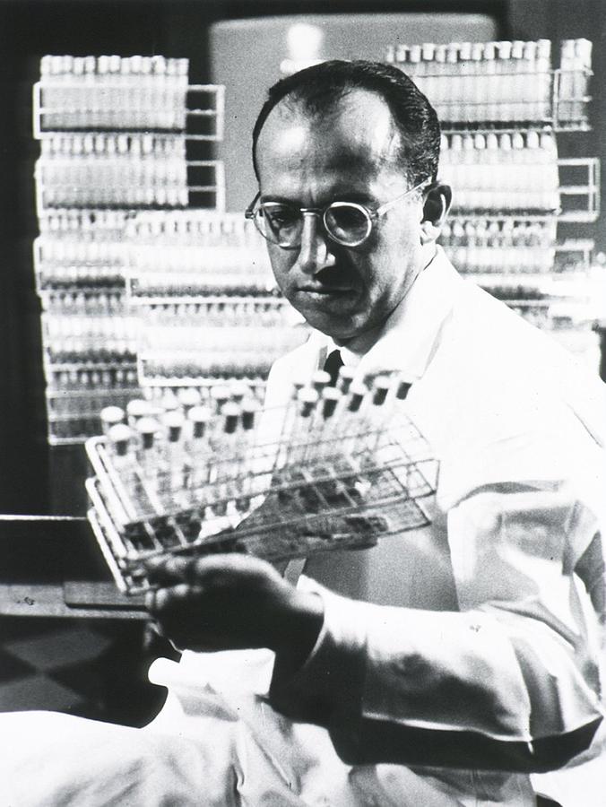 History Photograph - Jonas E. Salk 1914-1995, American by Everett