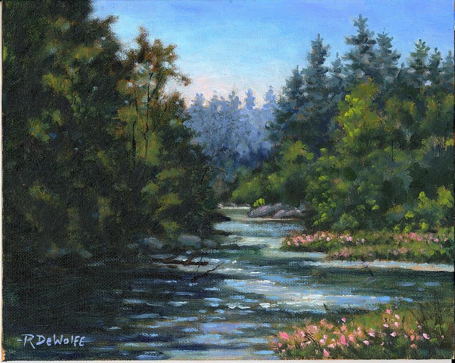 Water Painting - Jones Creek by Richard De Wolfe