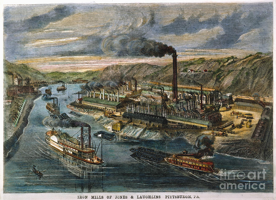1869 Photograph - Jones/laughlin Iron Works by Granger