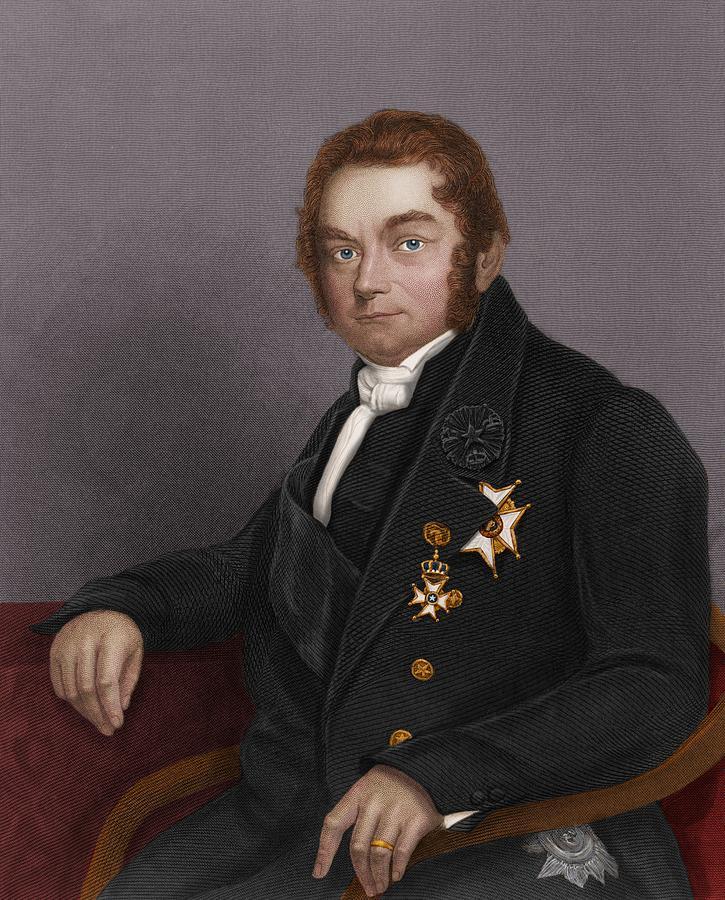1800s Photograph - Jons Jacob Berzelius, Swedish Chemist by Maria Platt-evans