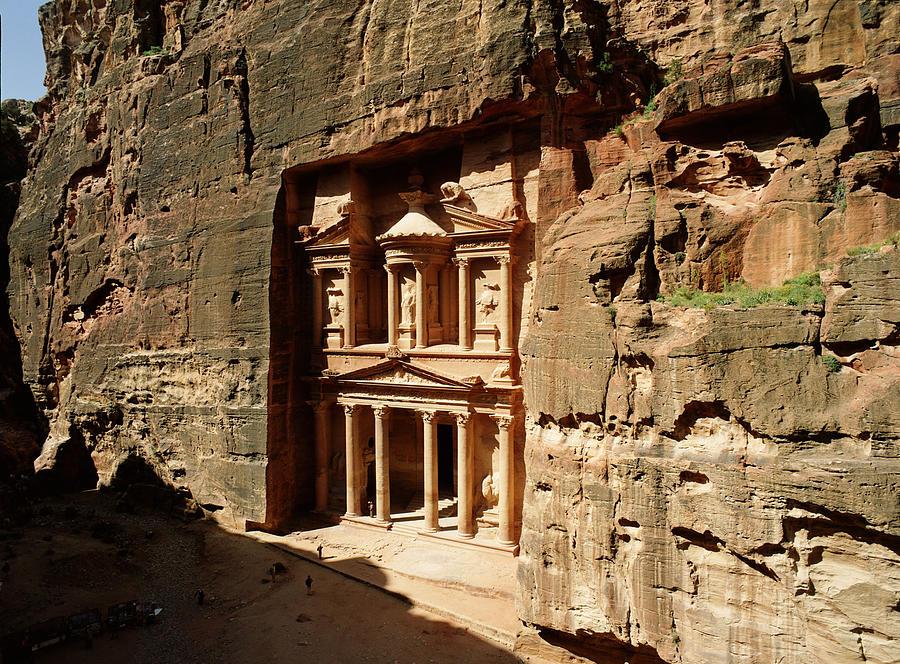 Horizontal Photograph - Jordan, Petra, The Treasury (al Khazna) by Jon Arnold