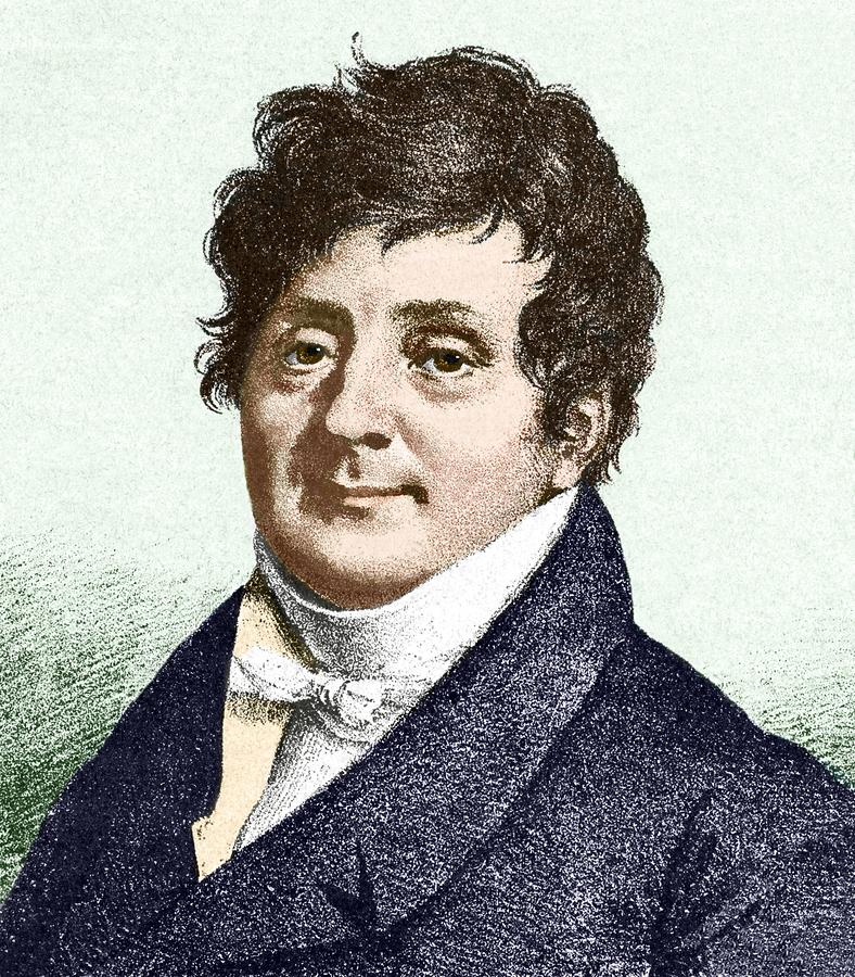 Human Photograph - Joseph Fourier, French Mathematician by Sheila Terry