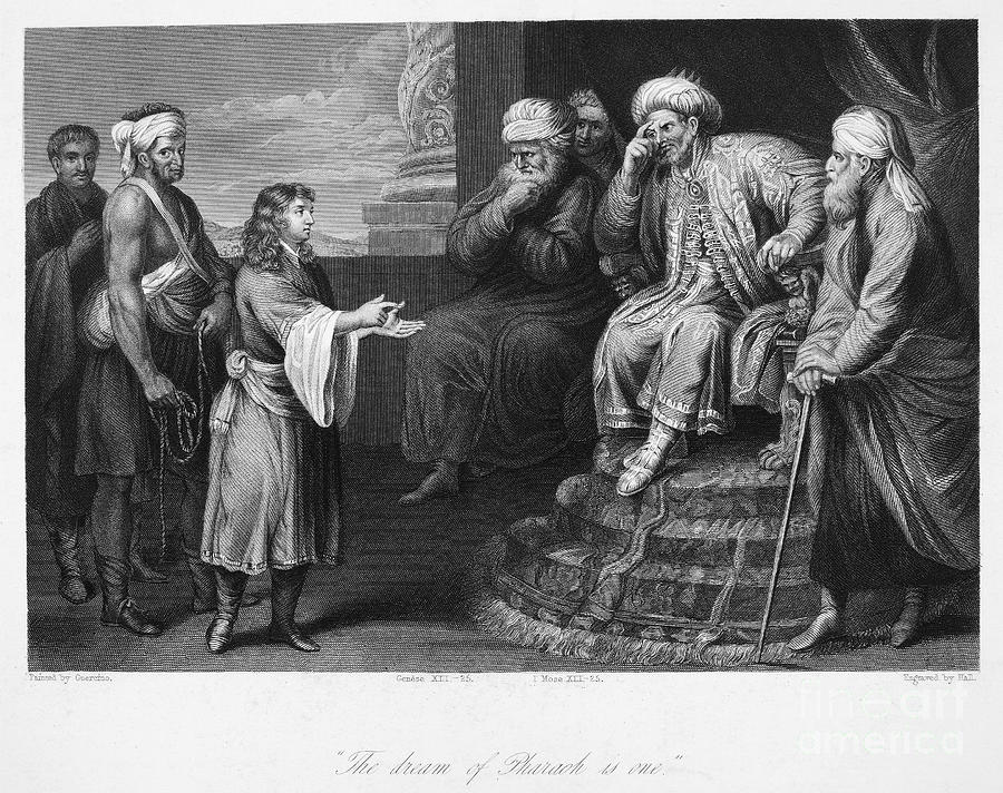 Ancient Photograph - Joseph Interpreting Dream by Granger