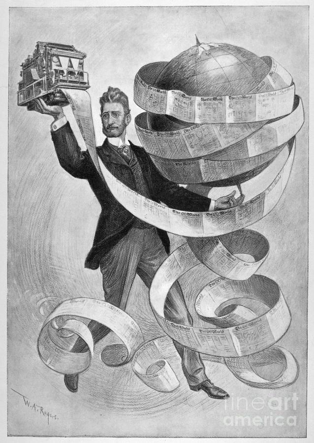 1901 Photograph - Joseph Pulitzer by Granger