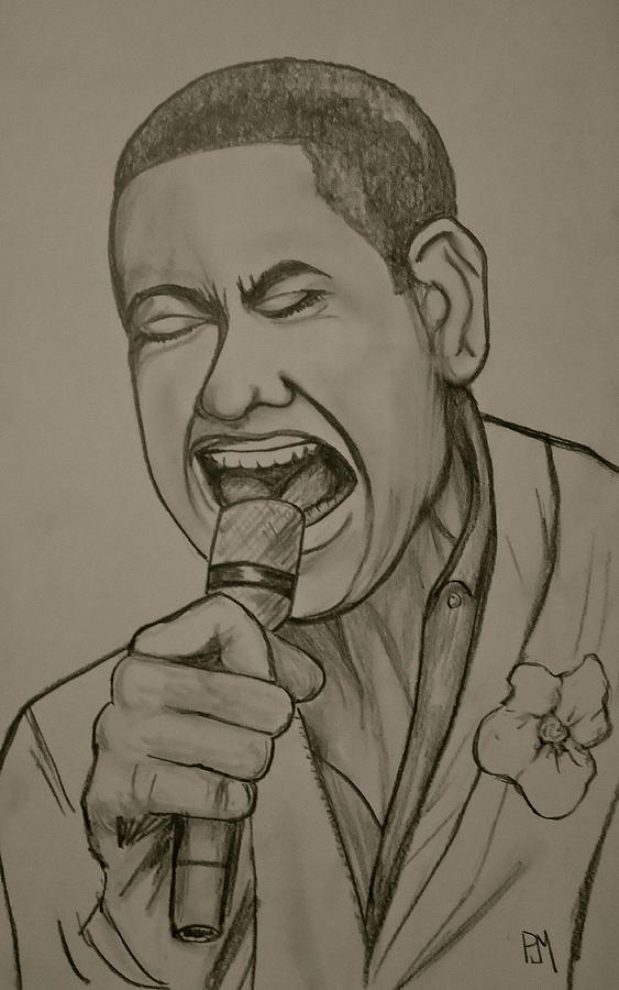 American Idol Drawing - Joshua Ledet by Pete Maier