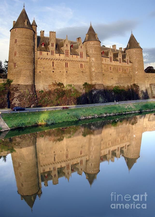 Ancient Photograph - Josselin Chateau by Jane Rix