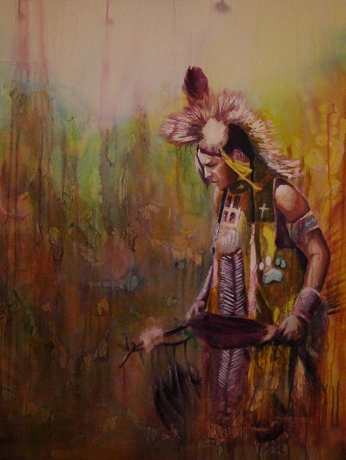 Native Painting - Journey by Jerry Frech