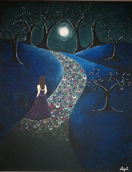 Landscape Painting - Journey by Leyni Illa-cabrera